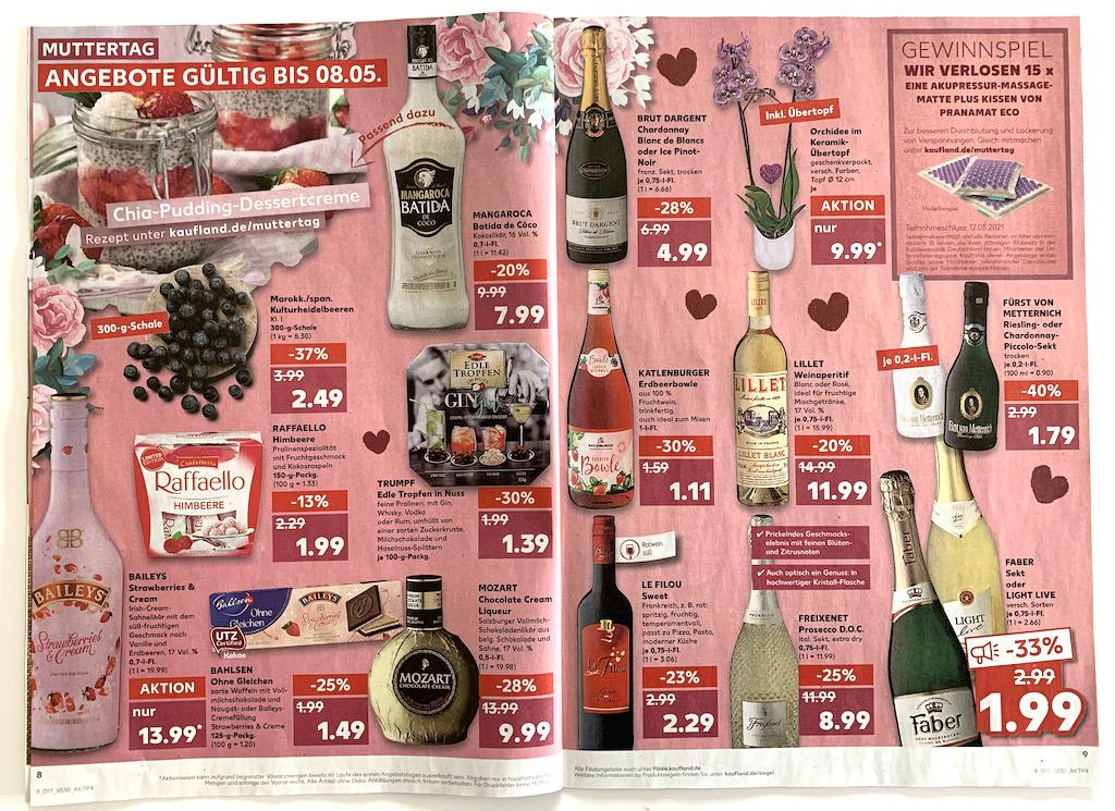 Kaufland Prospekt Muttertag 2021 Alkohol