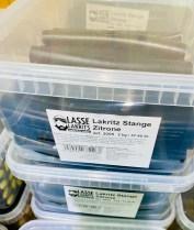 Lasse Lakritzs Lakritz Stange Zitrone 2000G Box