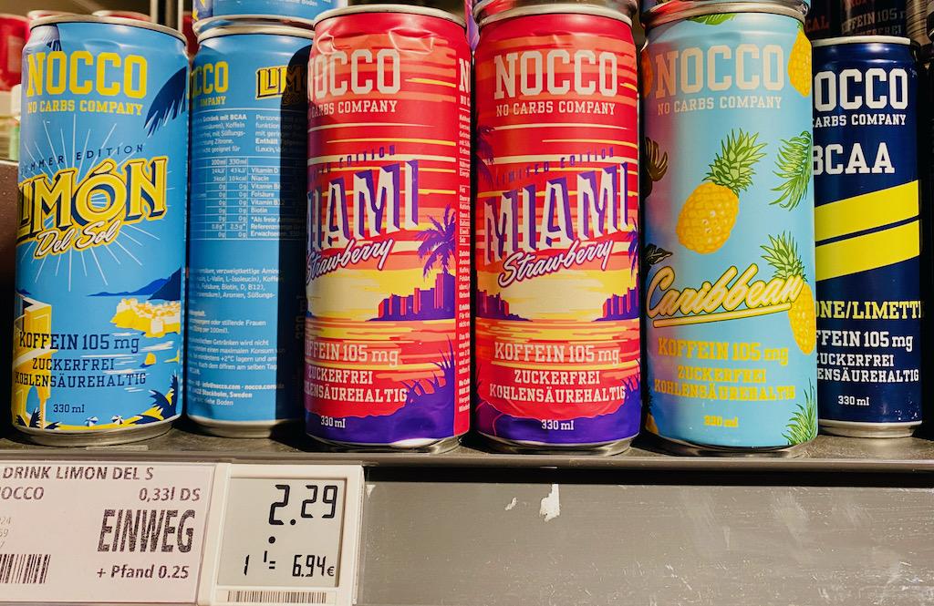 Nocco No Carbs Company Limon Del Sol-Miami Strawberry 330ml Getränkedose