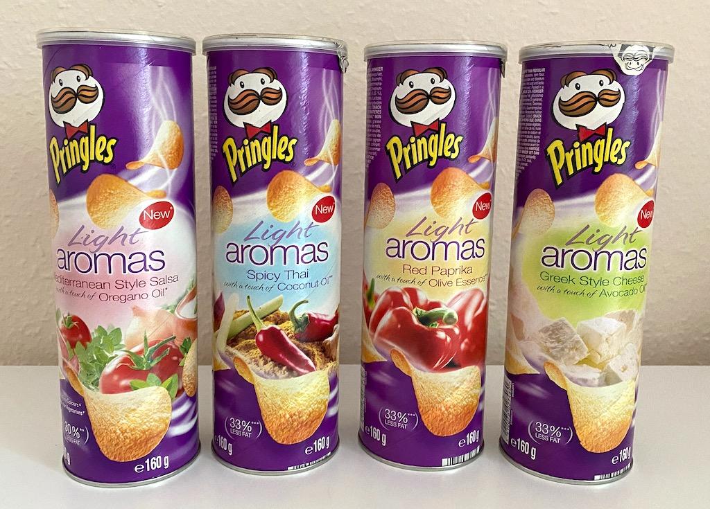 Pringles Light Aromas Mediterranean Style Salsa-Spicy Thai-Red Paprika-Greek Style Cheese 160G