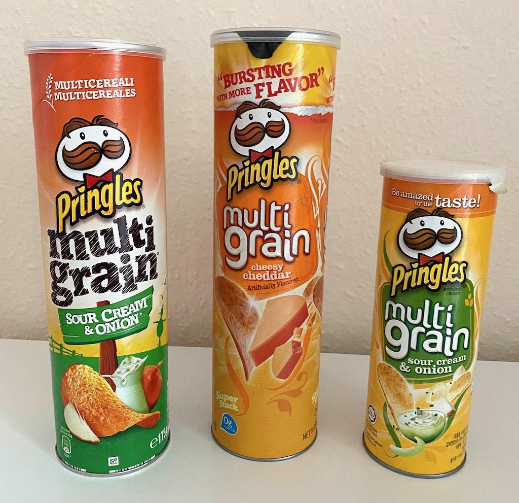 Pringles Multigrain Sour Cream+onion-cheesy cheddar-sour cream+onion small
