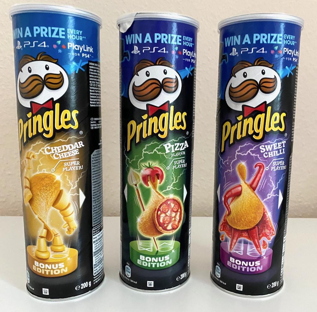 Pringles PS4-Bonus Editionen Cheddar Cheese-Pizza-Sweet Chilli 2020