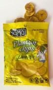 Samai Plantain Chips Lime Kochbananenchips 70G offen
