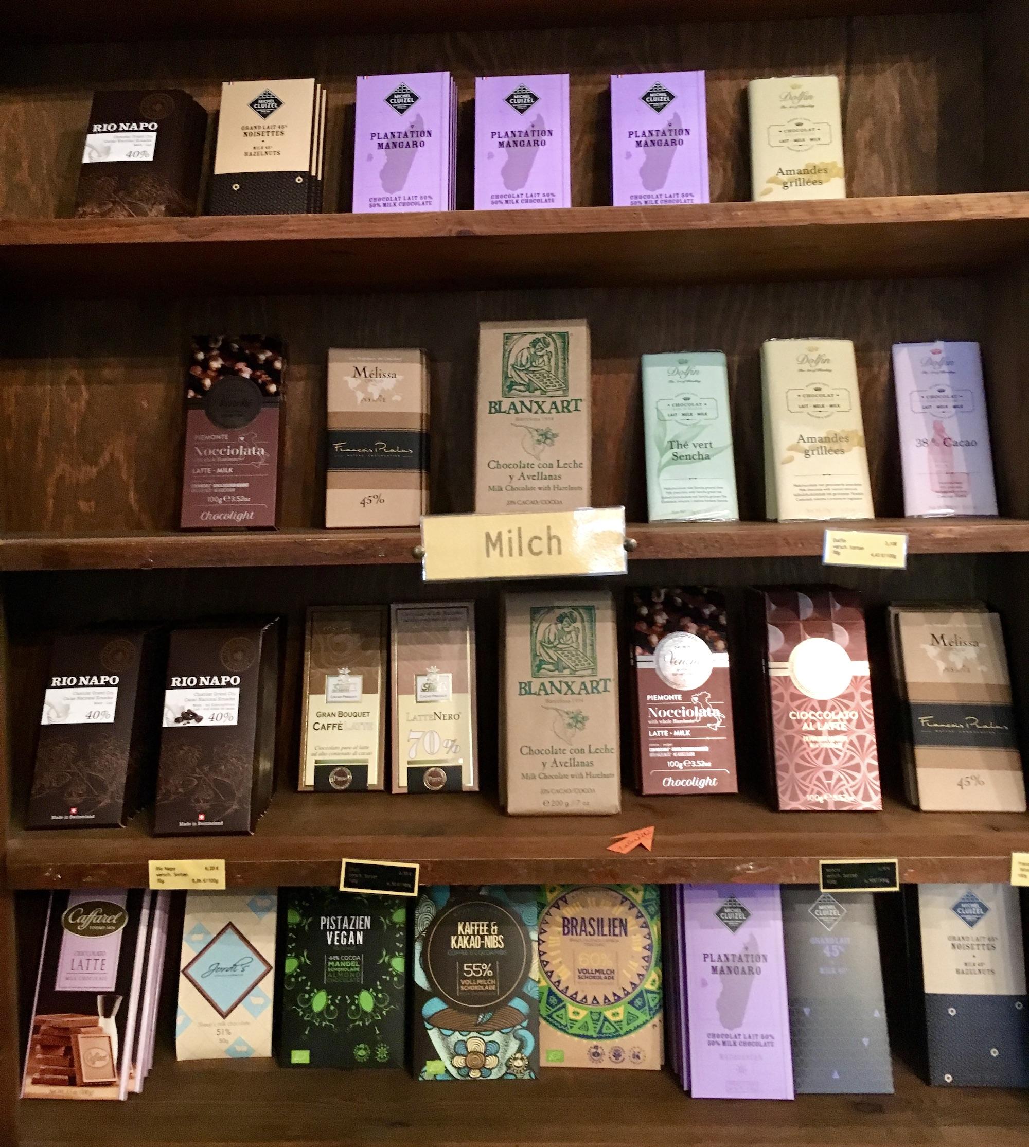 Winterfeldt-Laden Schokoladenauswahl Tafelschokoladen