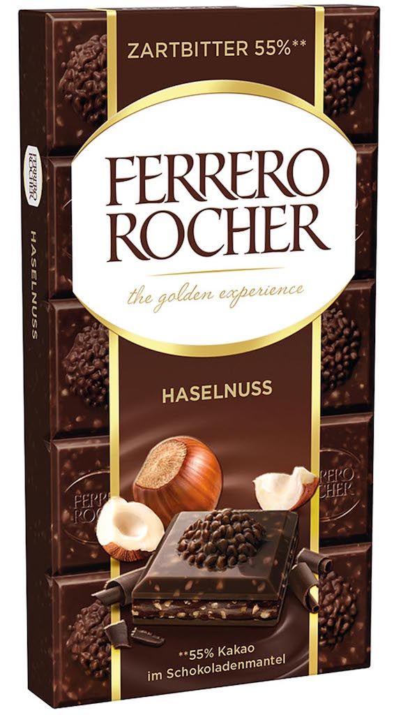 Ferrero Rocher Tafelschokolade Dark 90 Gramm