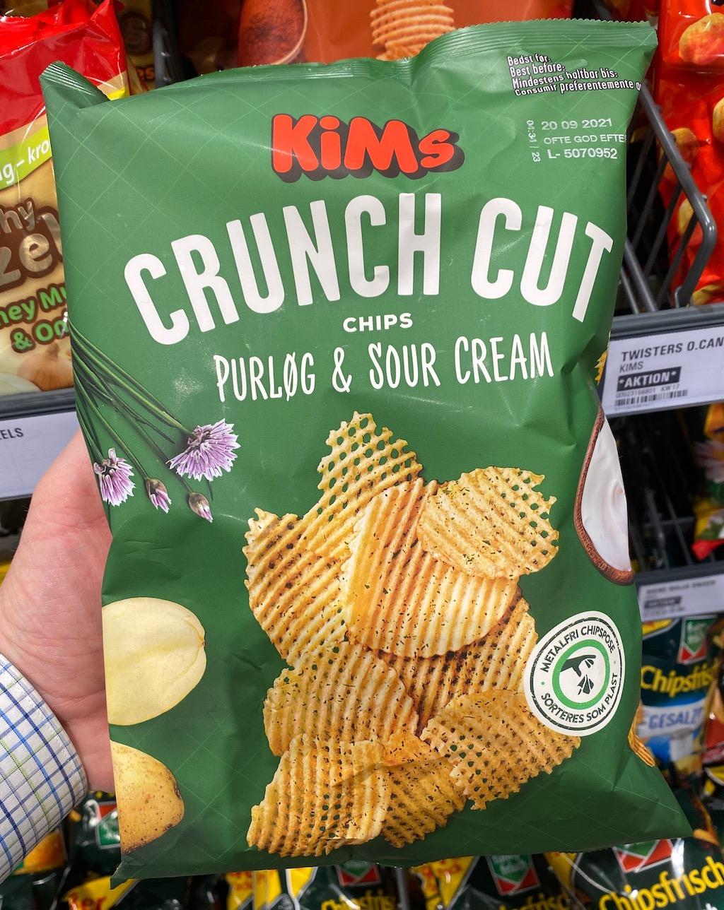 KIMs Crunch Cut Chips Purlog+Sour Cream