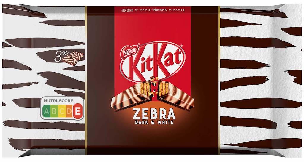 Nestlé Kitkat Zebra Dark+White 3×42 Gramm