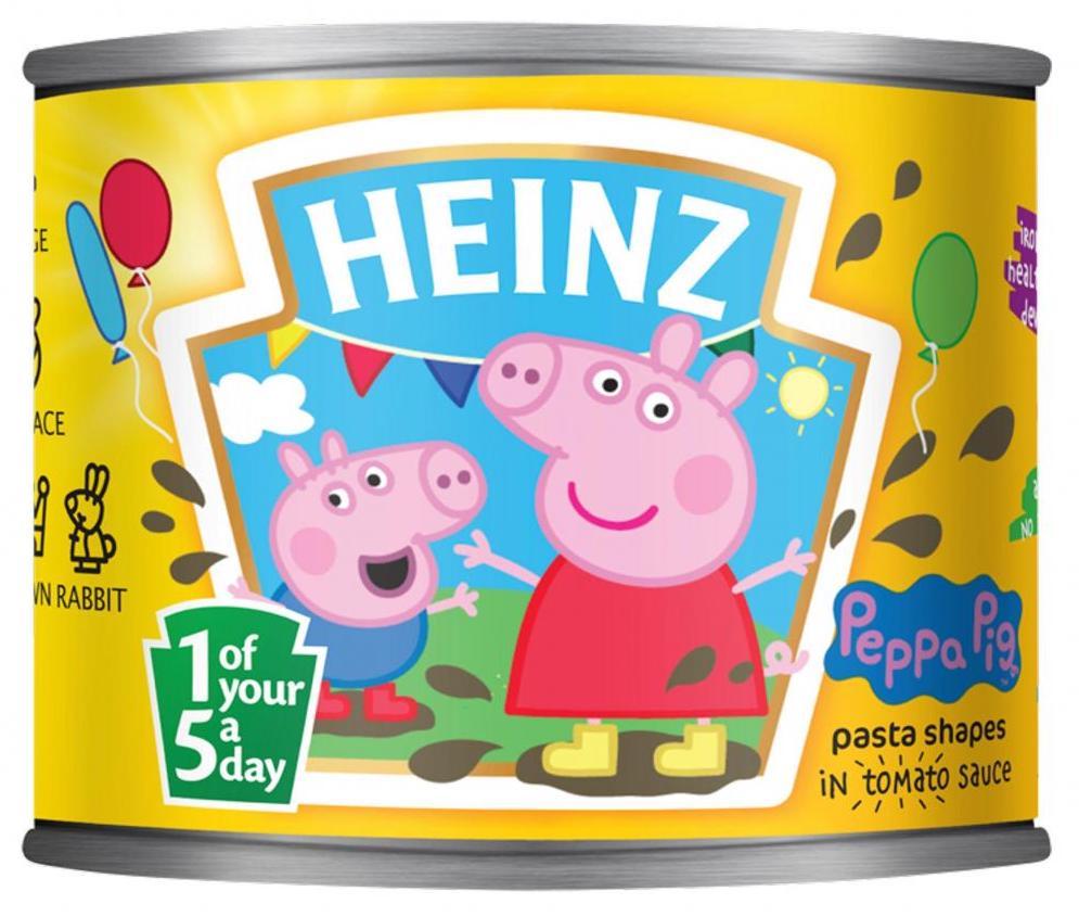 Pasta in der Dose von Heinz mit Peppa Pg-Motiv (205 Gramm)