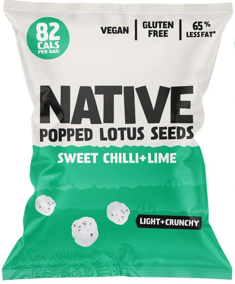 Native Popped Lotus Seeds Sweet Chilli+Lime Popcorn