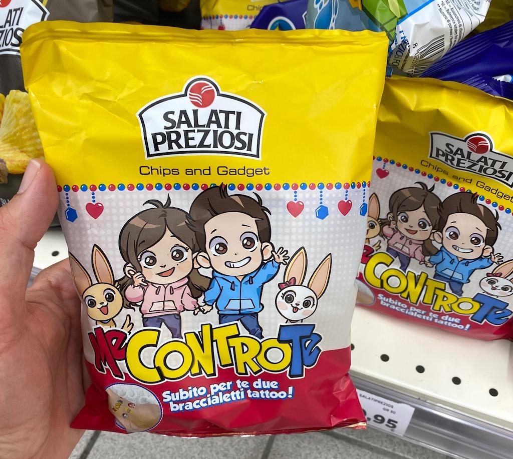 Salati Preziosi MeControTe Chips mit Spielzeug