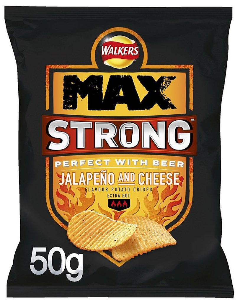 Walkers Max Strong Jalapeno+Cheese 50G