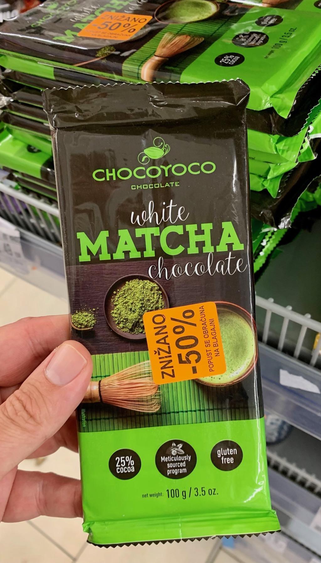 Chocoyoco White Matcha Chocolate 100G