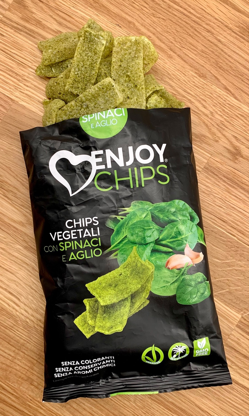 Enjoy Chips Spinaci E Aglio Spinatchips