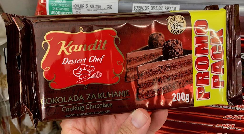 Kandit Dessert Chef Cooking Schokolade 200G Slovenien