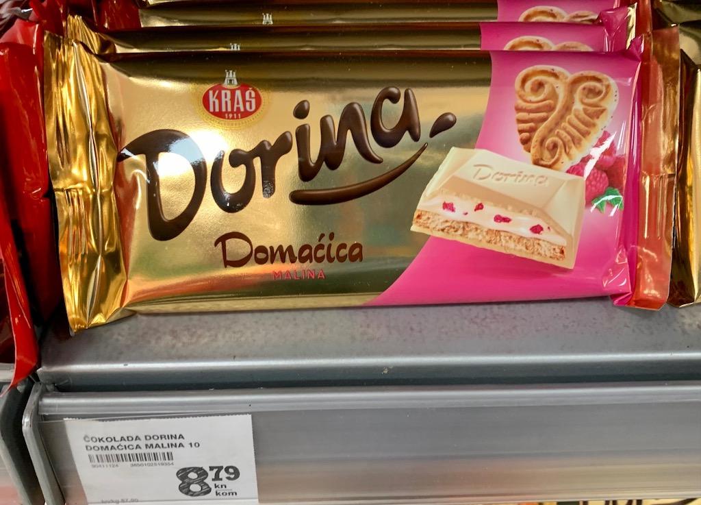 Kras Dorina Domacica Weiße Schokolade mit Keks und Himbeere Kroatien
