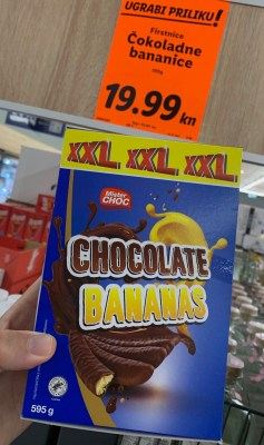 Lidl Mister Choc Chocolate Bananas XXL Kroatien