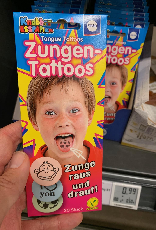 Küchle Knabber Esspapier Zungen-Tattoos 20er