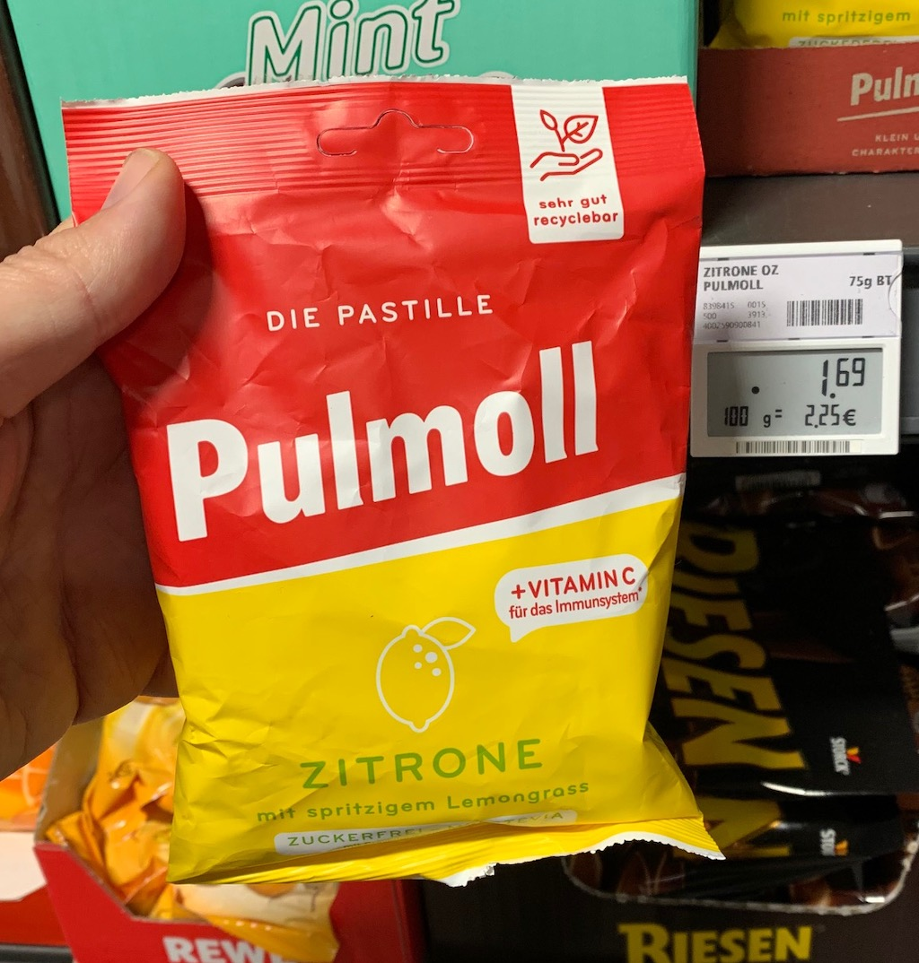 Pulmoll Zitrone mit Lemongrass im Beutel statt in der Dose