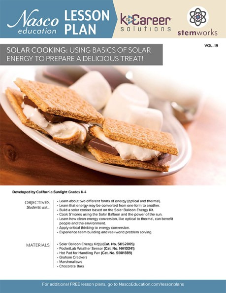 Solar Cooking: Using Basics of Solar Energy to Prepare a Delicious Treat - Lesson Plan Volume 19