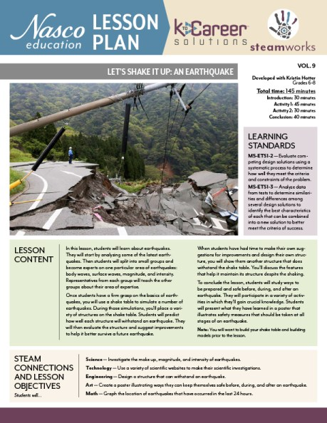 Let's Shake It Up: An Earthquake lesson plan