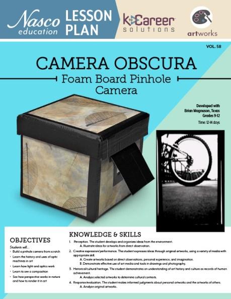 Camera Obscura - Foam Board Pinhole Camera Lesson Plan