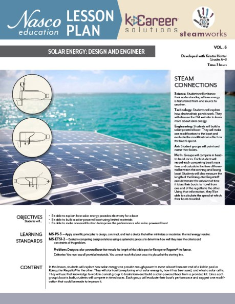 Solar Energy - Design and Engineer Lesson Plan