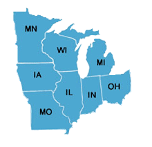 Image of Midwest Area States