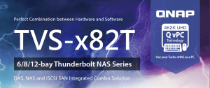The New QNAP Thunderbolt NAS range in 4-bay 6-bay and 8-bay with DDR4 RAM, PCIe slots,DAS. NAS and SAN options