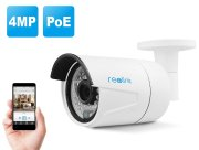 PoE IP Camera, Security Outdoor with Built-in 16GB Micro SD Card, HD 4-Megapixel with Super Day Night Vision, Motion Detection and Remote Access, DIY,No Need Power adapter Reolink RLC-410S