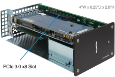 Sonnet Echo Express SEL Thunderbolt 3 How to Install PCIe Card for MacBook Pro ECHO-EXP-SEL-T3