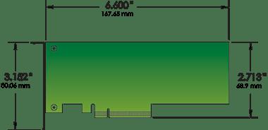 Sonnet Echo Express SEL Thunderbolt 3 ThunderLok PCIe Card for MacBook Pro low profile PCIe card