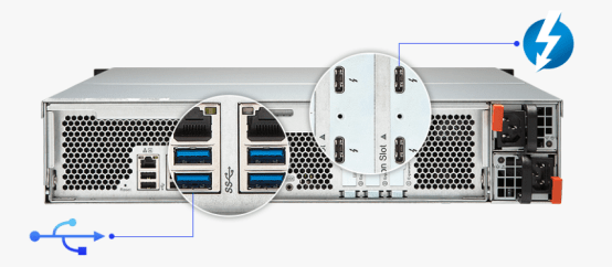 The QNAP TVS-1582TU finally revealled The Thunderbolt 3 Rackmount four TB3 Ports das