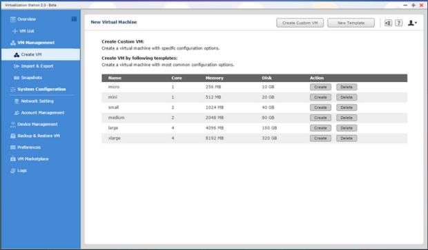 QNAP NAS VM Create 1