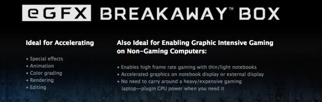 Sonnet Breakaway eGFX Breakaway Thunderbolt 3 Graphics card expansion 9