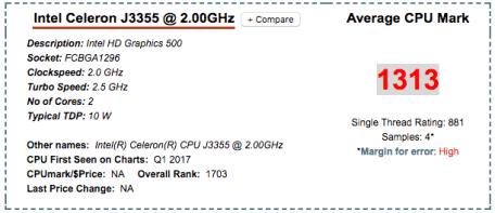 Intel Celeron J3355 DS218+ NAS CPU