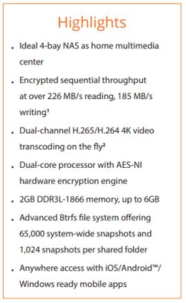 Synology DS418PLAY 4-Bay Diskstation Multimedia NAS Server 2