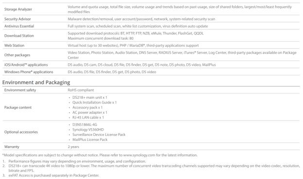 The Synology DS218+ 2-Bay Diskstation NAS Server – Specs And Details Revealed 5