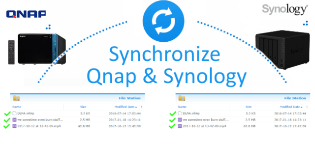 Synchronize between Synology and Qnap - backup/restore
