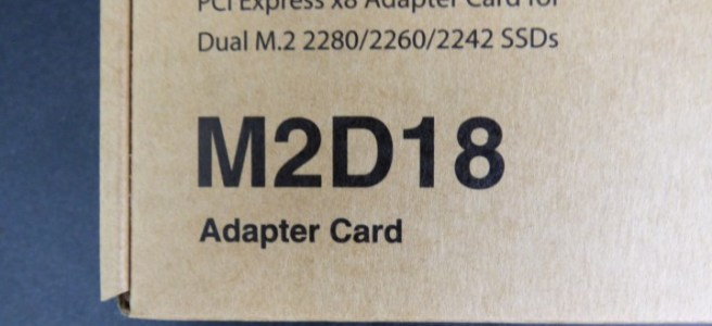 Unboxing the Synology M2D18 NVMe SSD PCIe Card - NAS
