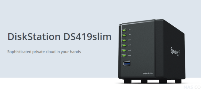 Synology DS419slim NAS Drive Specifications and Data Sheet