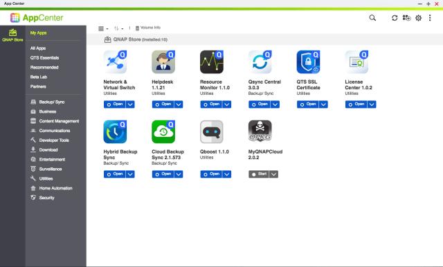 QNAP QTS AppCenter