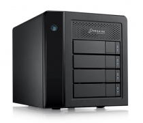 Promise Pegasus3 Symply macOS Edition R4 TB3 F40P3R400000001 4-Bay Tower; RAID-0/1/5/6; 2x Thunderbolt3 Port (with 4x 3TB) 12TB