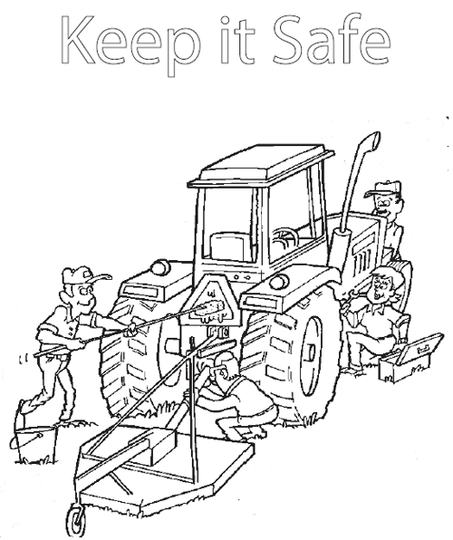 Heavy Equipment Mechanic Jobs Coloring Pages