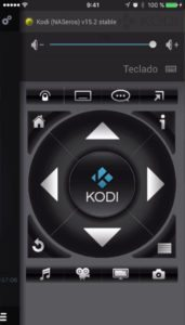 controlar Kodi con un smartphone con el navegador de direcciones