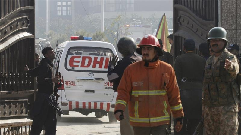 At least 25 ambulances were called to the university because of the attack [Reuters]