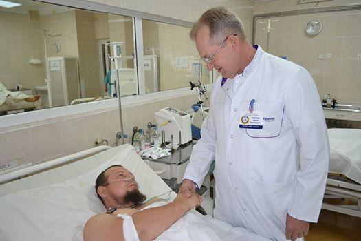 3-х раненых бойцов доставили в клинику вДнепр