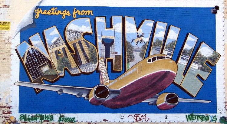 Nashville Post Card / Southwest Airlines mural