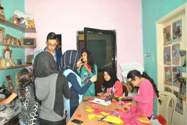 أشغال يدوية - نادي بنات فلسطين