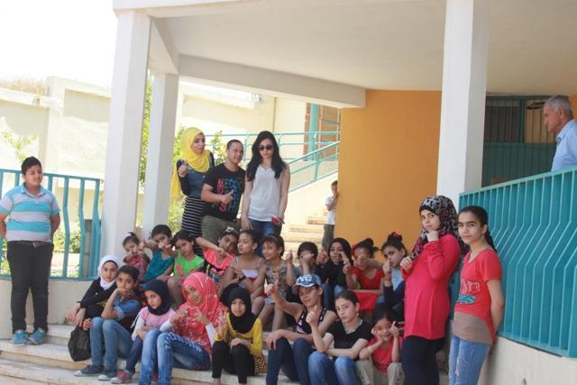 نادي بنات فلسطين يزور مؤسسة غسان كنفاني