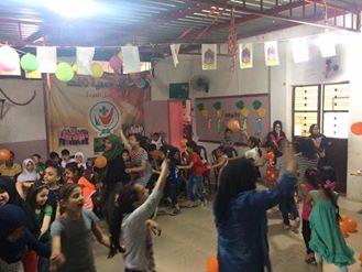 أقامت جمعية ناشط بنادييها بنات فلسطين وبسمة أمل حفلا بمناسبة استقبال لشهر رمضان